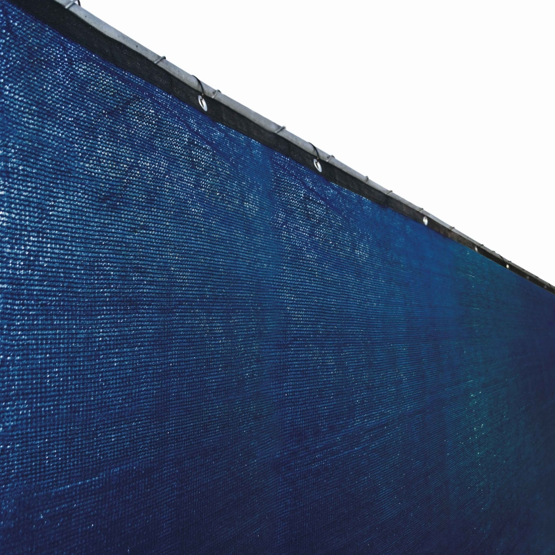 Aleko PLK0850BLUE-UNB 8 x 50 ft. Outdoor Windscreen Fence Privacy Screen with Grommet Blue