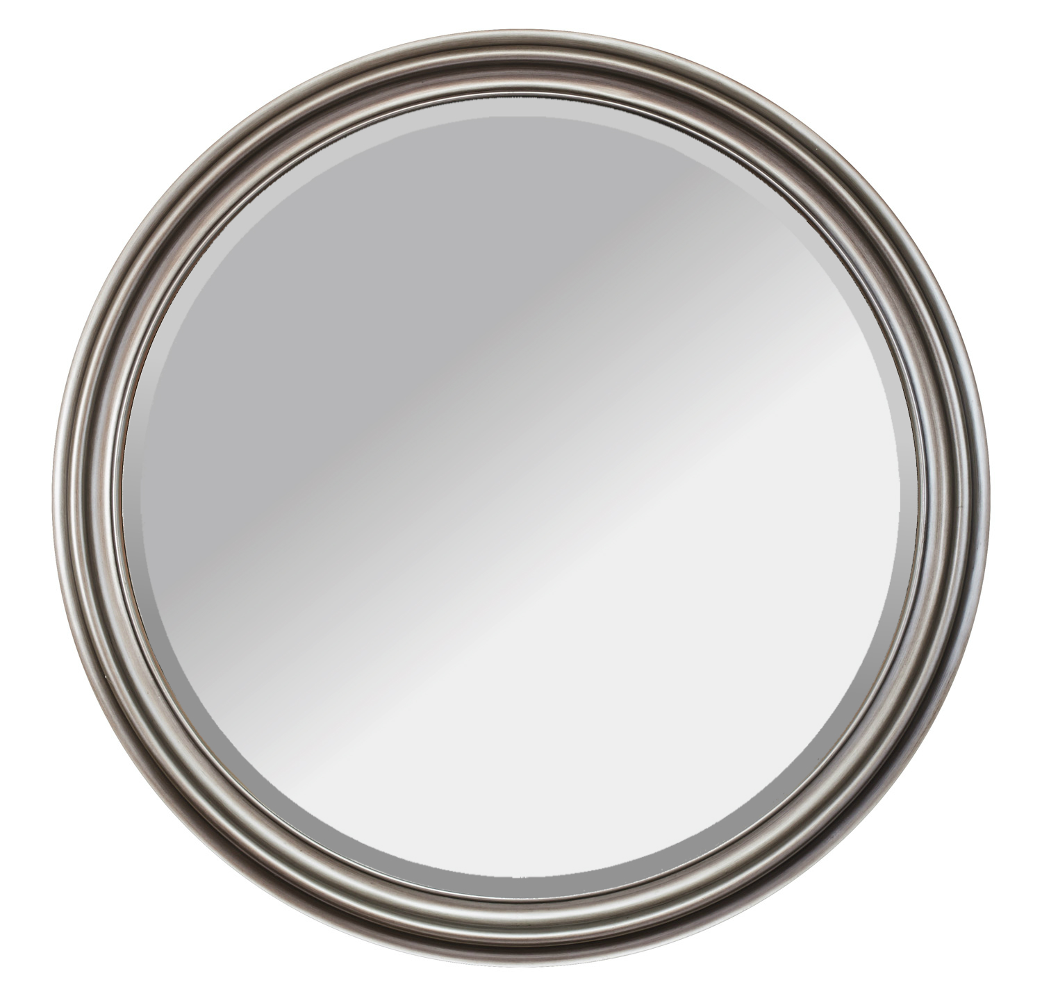 Alpine Fine Furniture 2201 Adel Double Curve Silver and Gold Framed Mirror - 36 in.