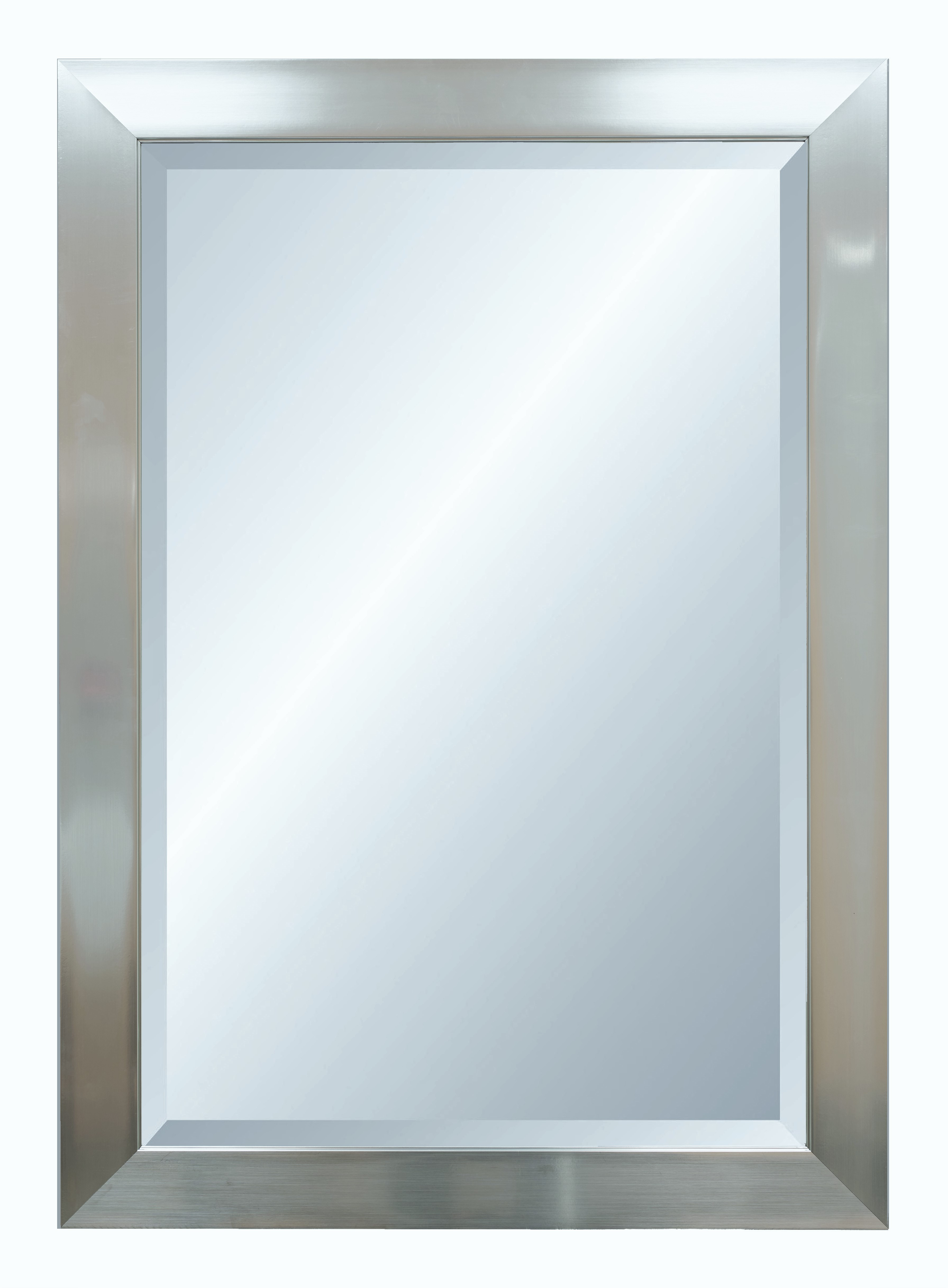 Alpine Fine Furniture 4151 Vibe Silver Wall Mirror with Bevel - 29 x 41 in.