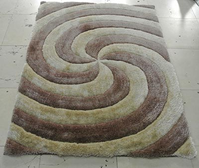 Image of 3d804-champagne-5x7 5 x 7 in. 3 Dimension Hand Carved Shag Rug Champagne