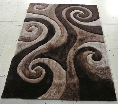 Image of 3d805-coco-8x11 8 x 11 in. 3 Dimension Hand Carved Shag Rug Coco