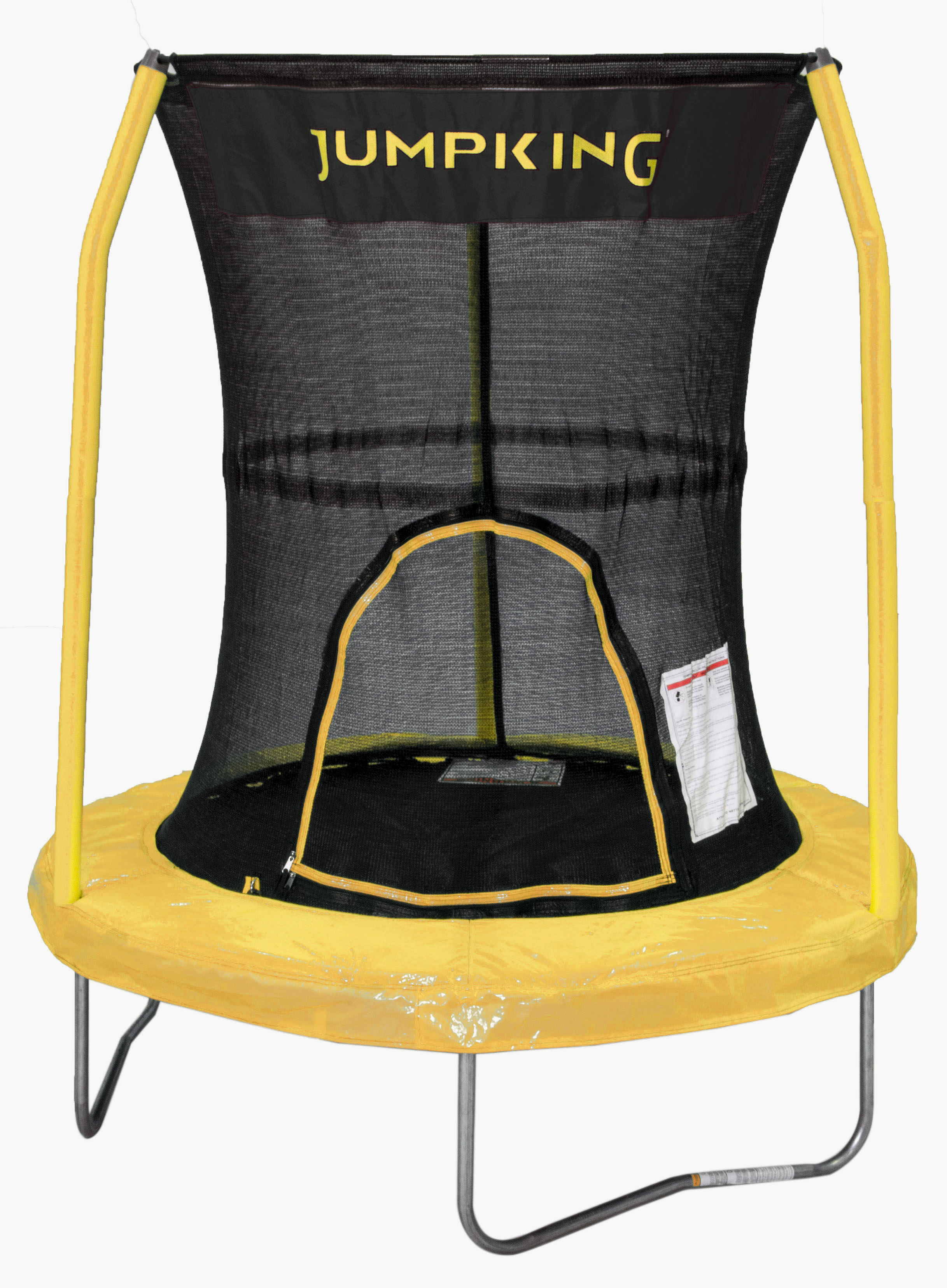 Bazoongi BZJP55Y 55 in. Trampoline with 3 Poles Enclosure System, Yellow