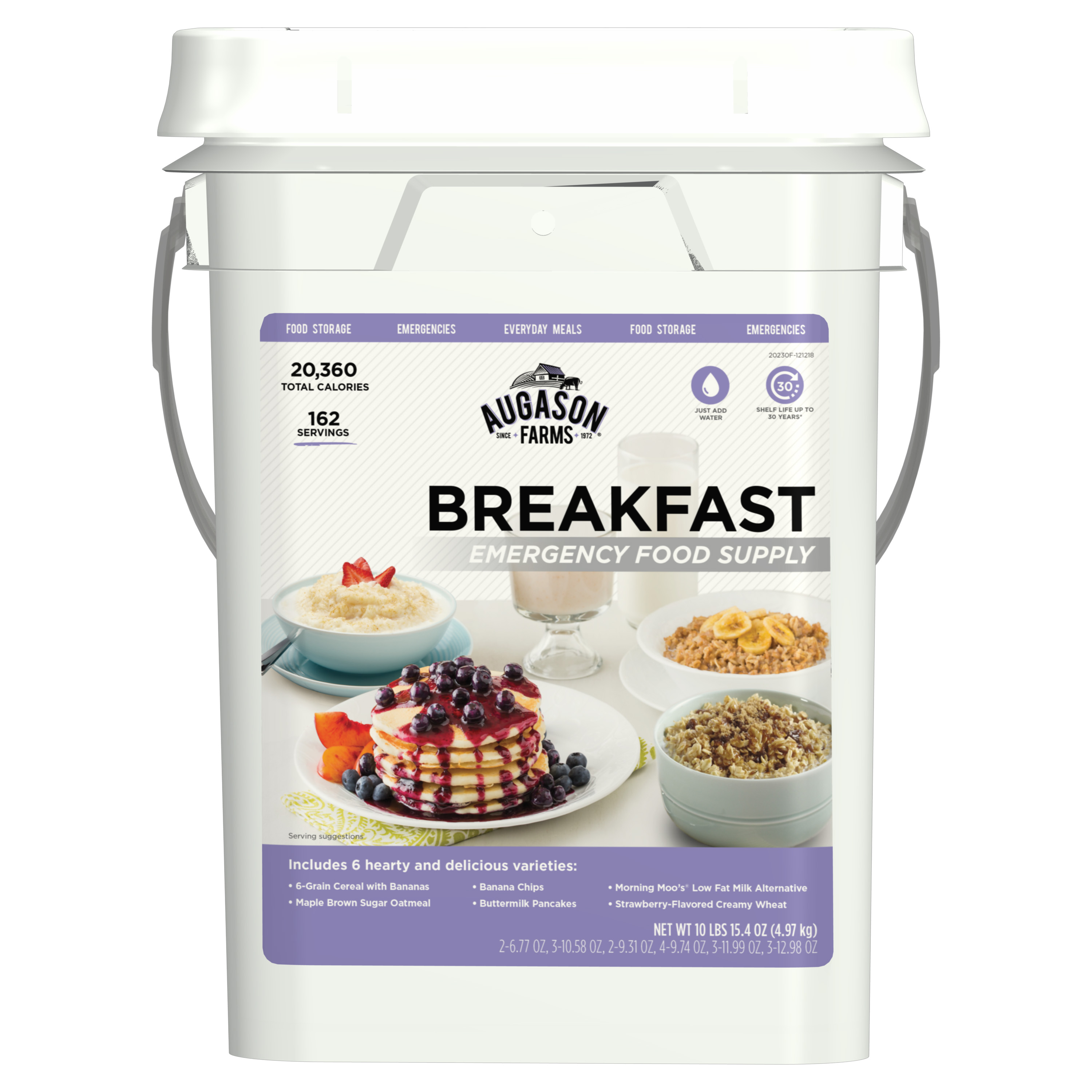 Augason Farms 5-20230 Farms Breakfast Emergency Food Supply Pail