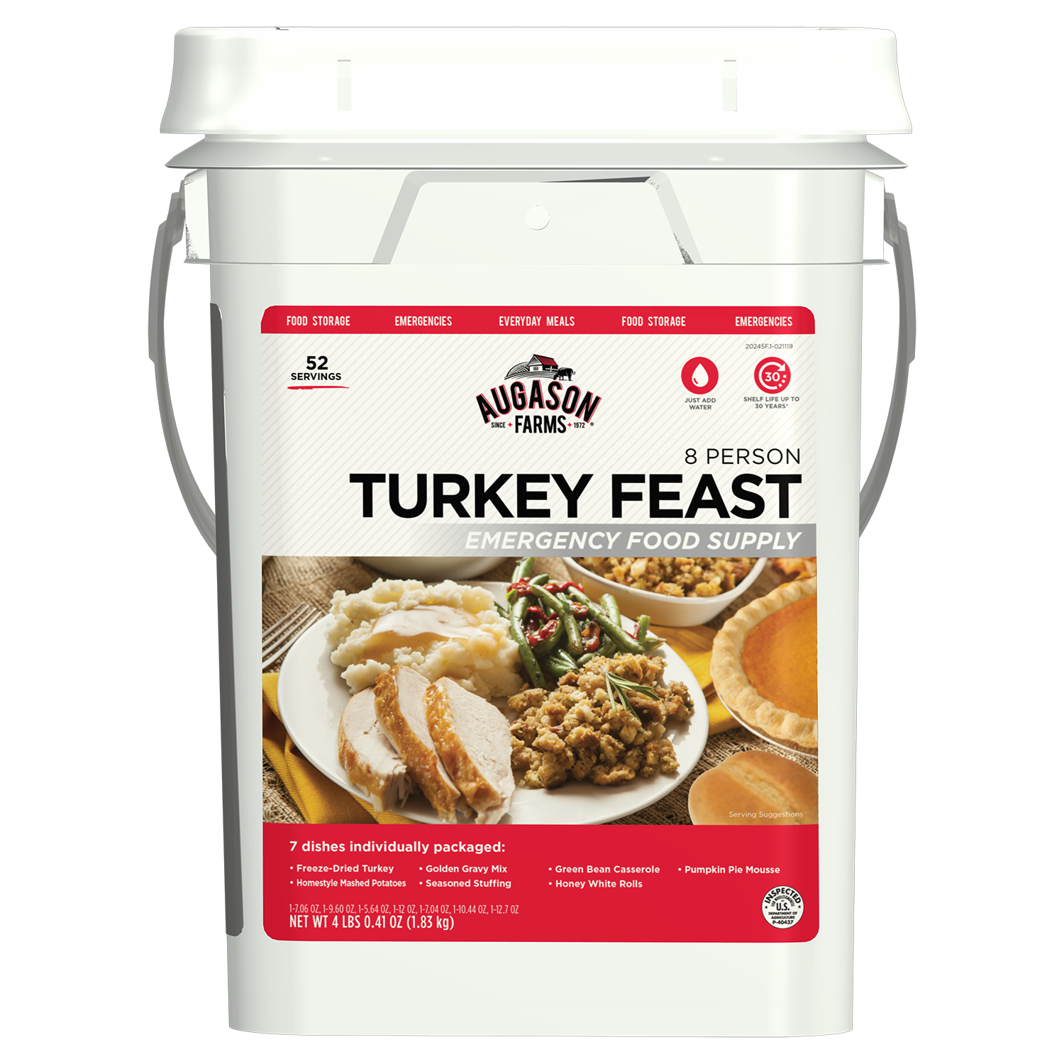 Augason Farms 5-20245 4 gal Turkey Feast Pail