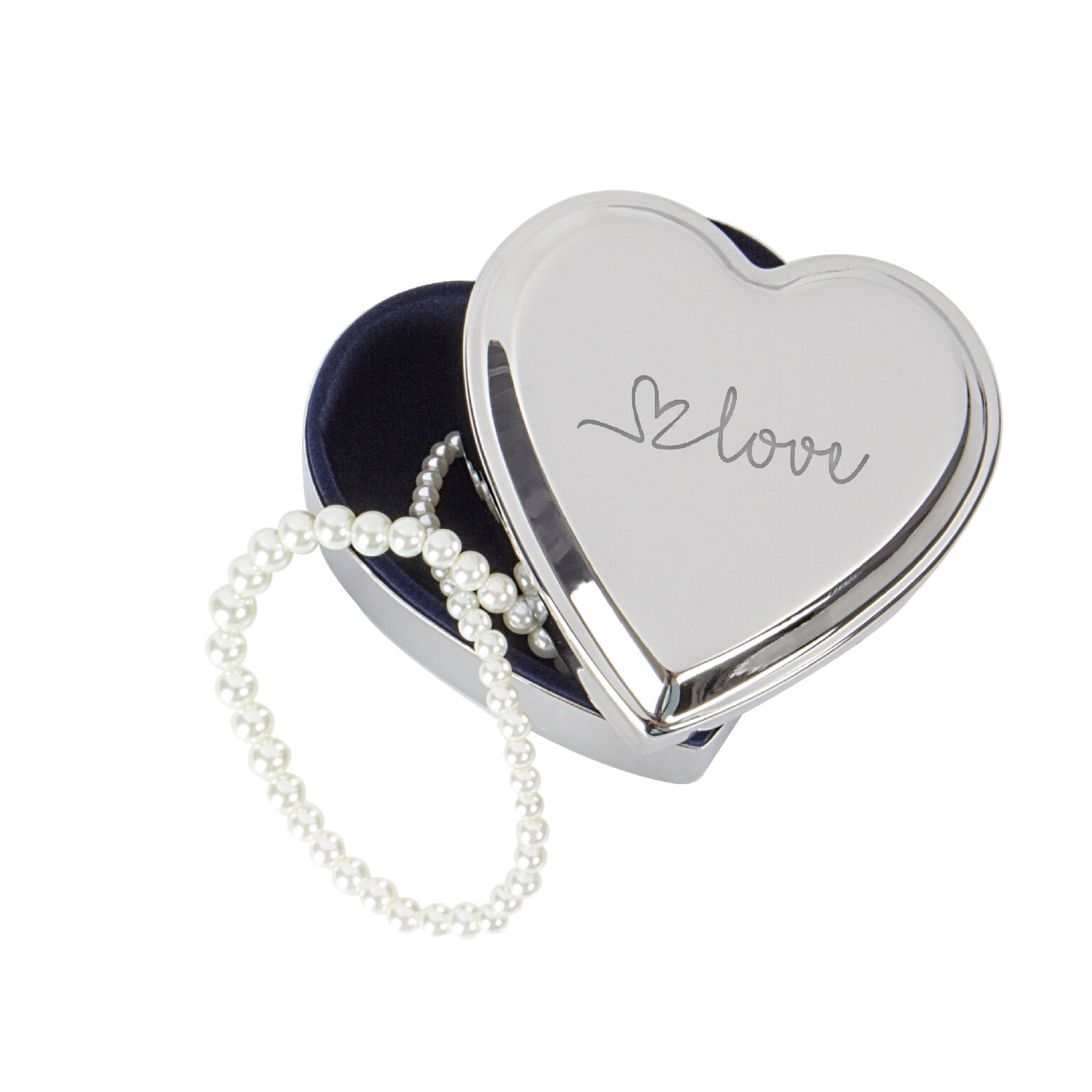 Cathys Concepts V17-1882 Love Silver Heart Keepsake Accessory Box