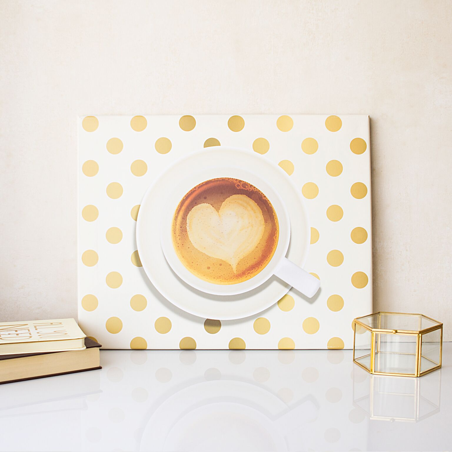 Cathys Concepts COF-2109-ST Espresso Gallery Wrapped Canvas Wall Art