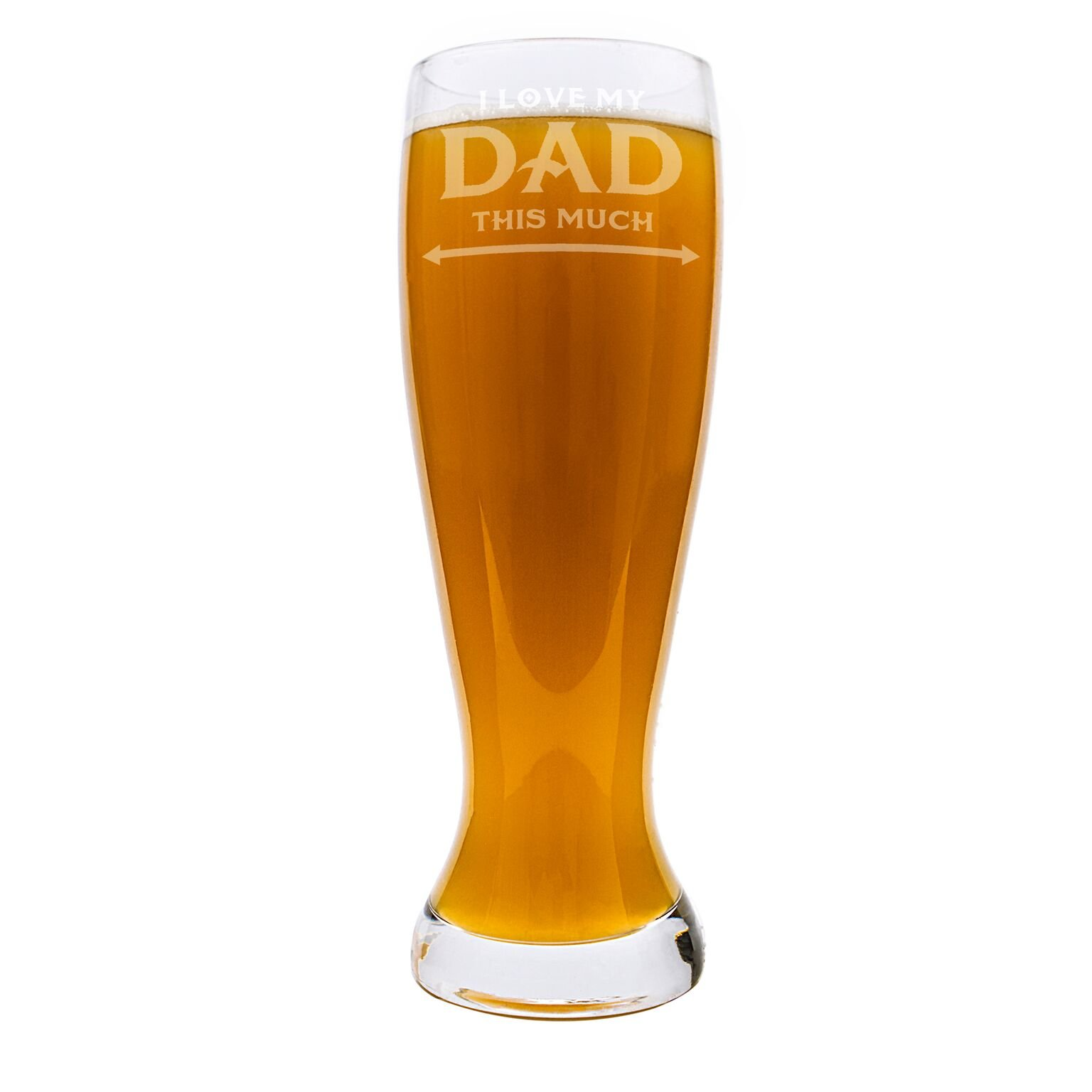 Cathys Concepts FD16-1244-ST 54 oz Fathers Day XL Beer Pilsner Glass