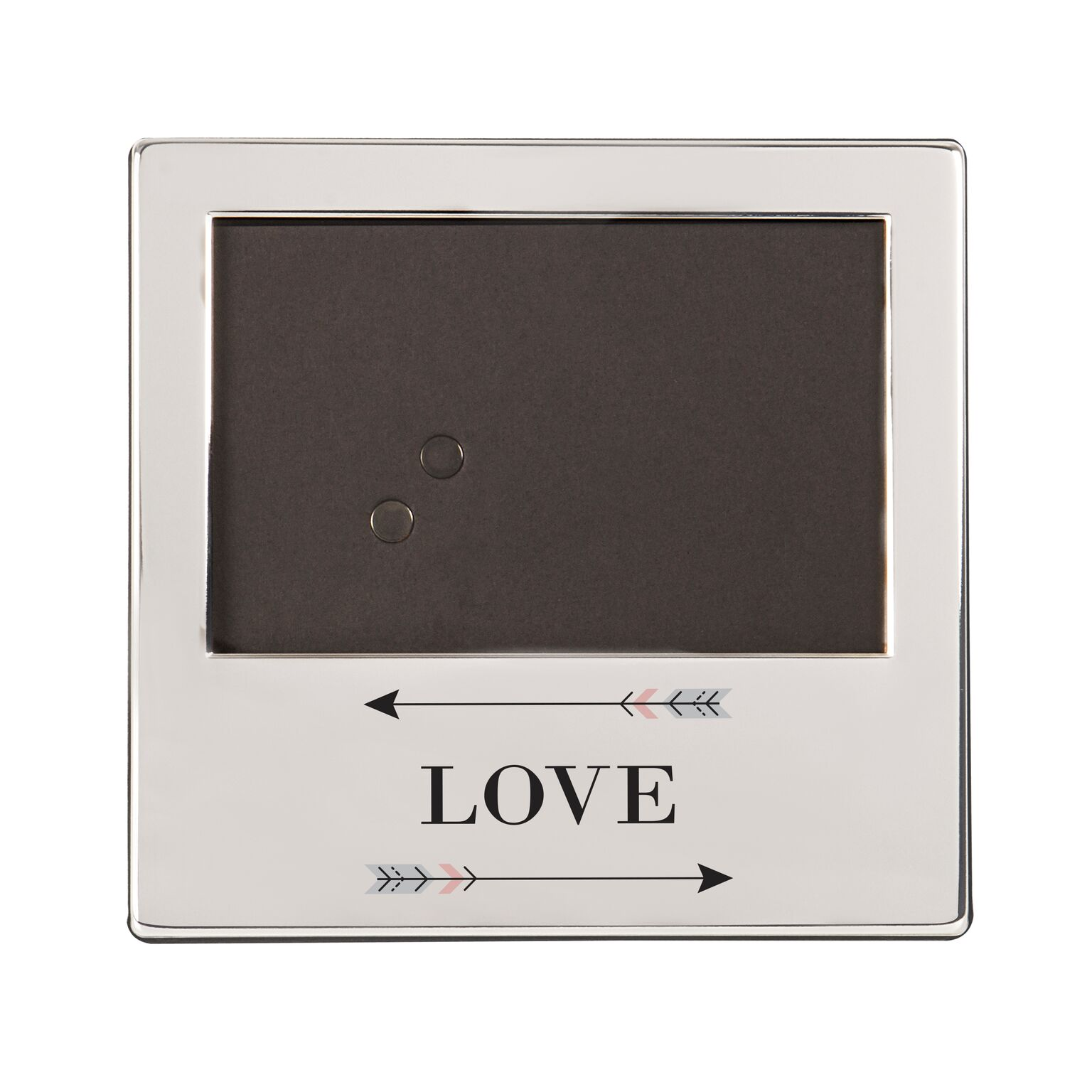Cathys Concepts 2315-7-ST Love Arrows Silver Picture Frame