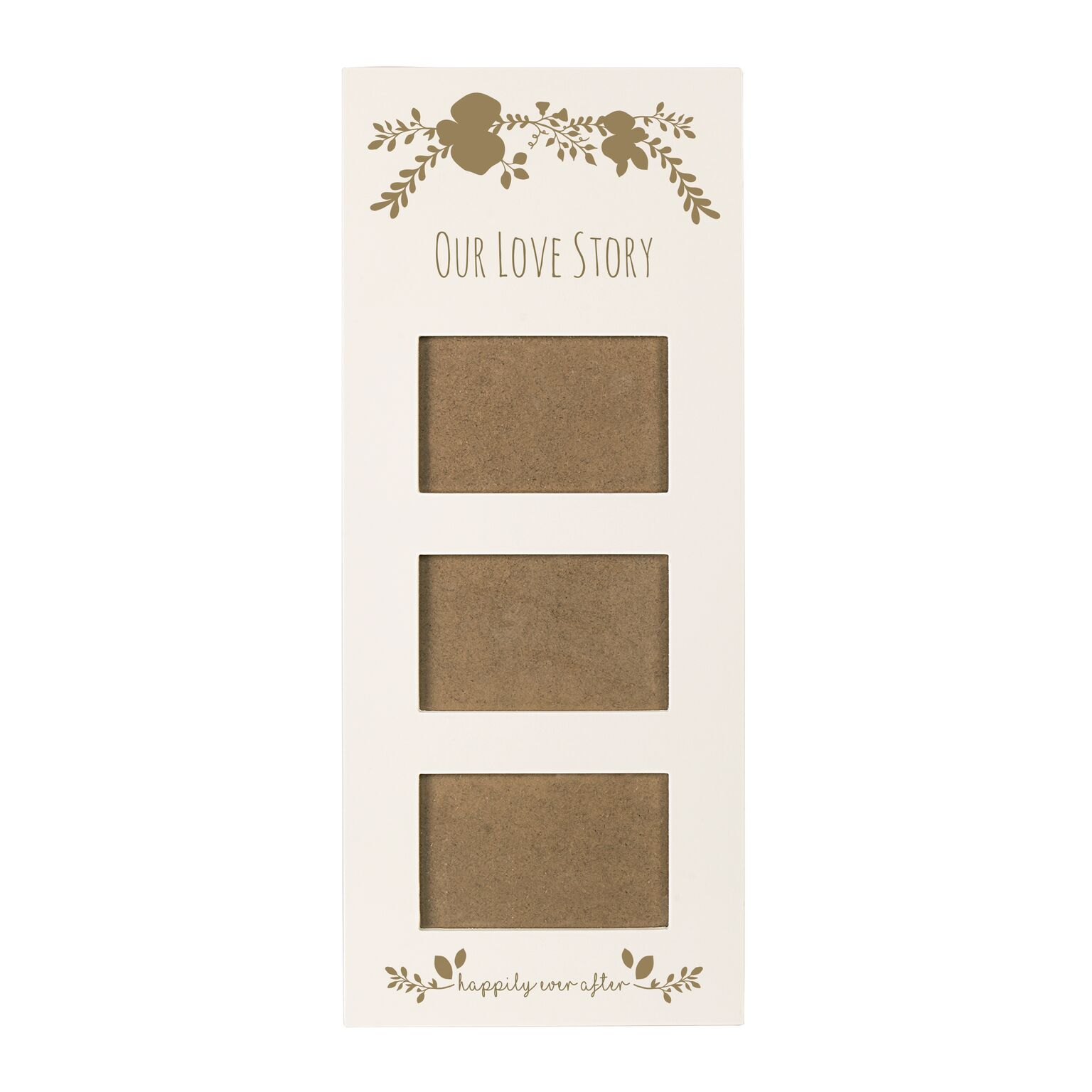 Cathys Concepts WD-2318WG-ST Gold Love Story Wedding Multi Photo Frame, White