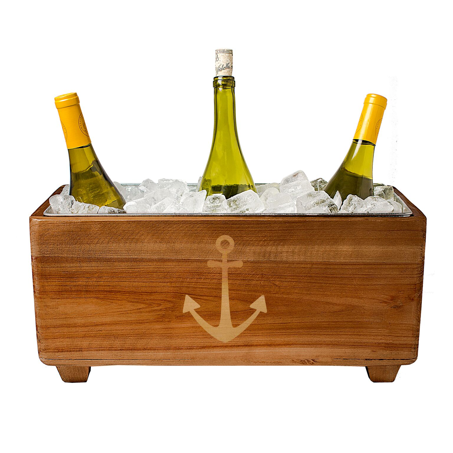 Cathys Concepts ACH-2294-ST Anchor Wooden Wine Trough