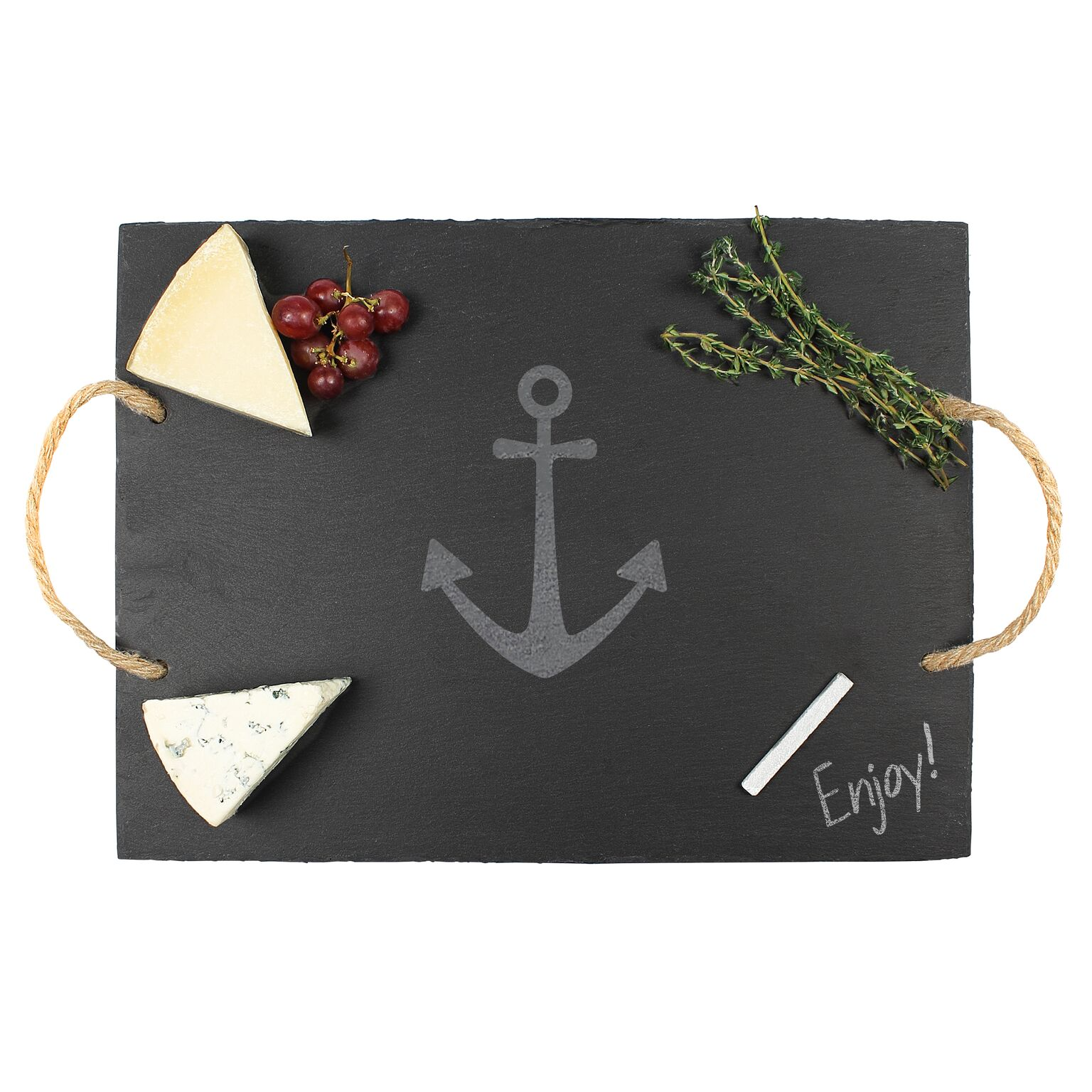 Cathys Concepts ACH-2185-ST Anchor Slate Serving Board