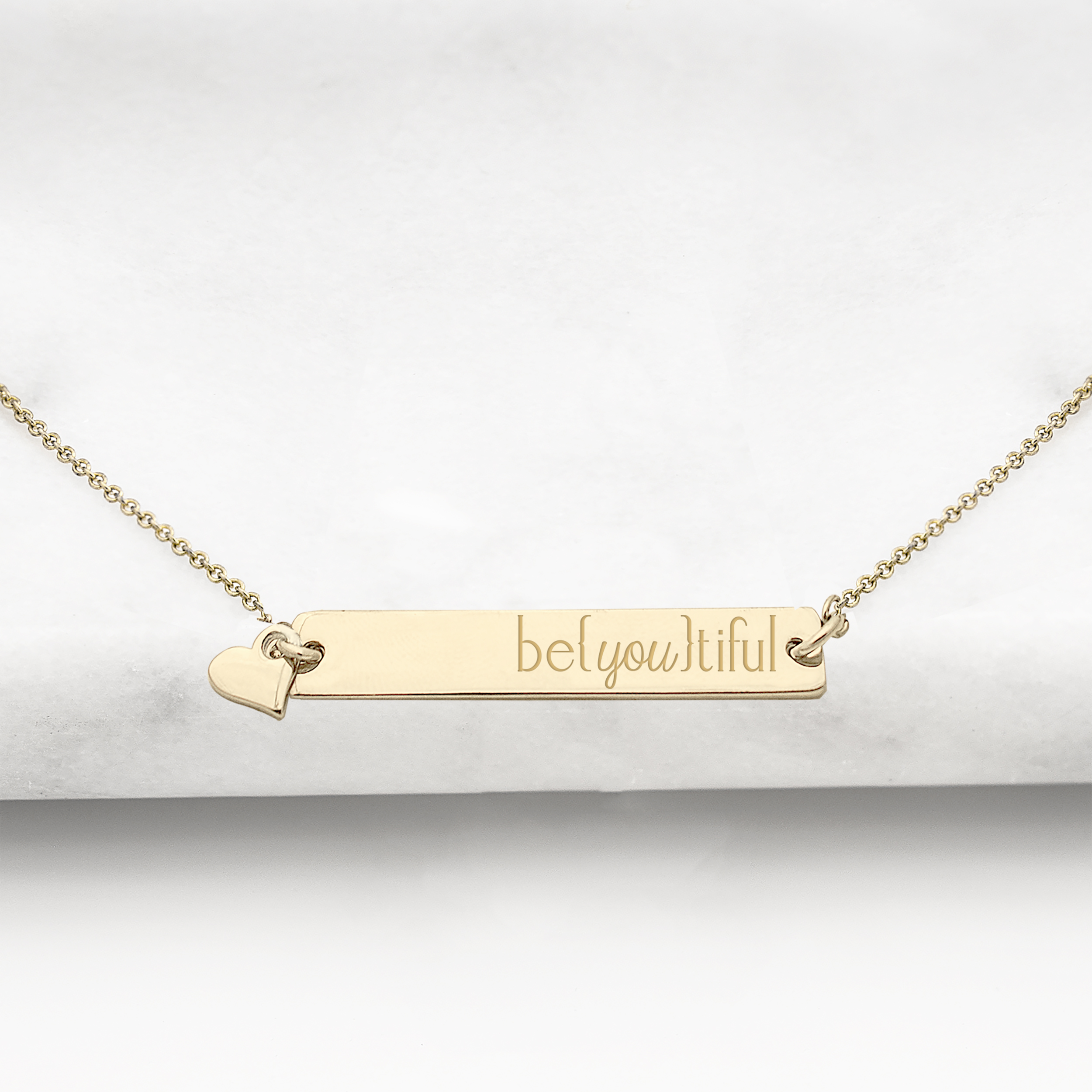 Cathys Concepts U-N9105G-BE Beyoutiful Gold Horizontal Bar Necklace