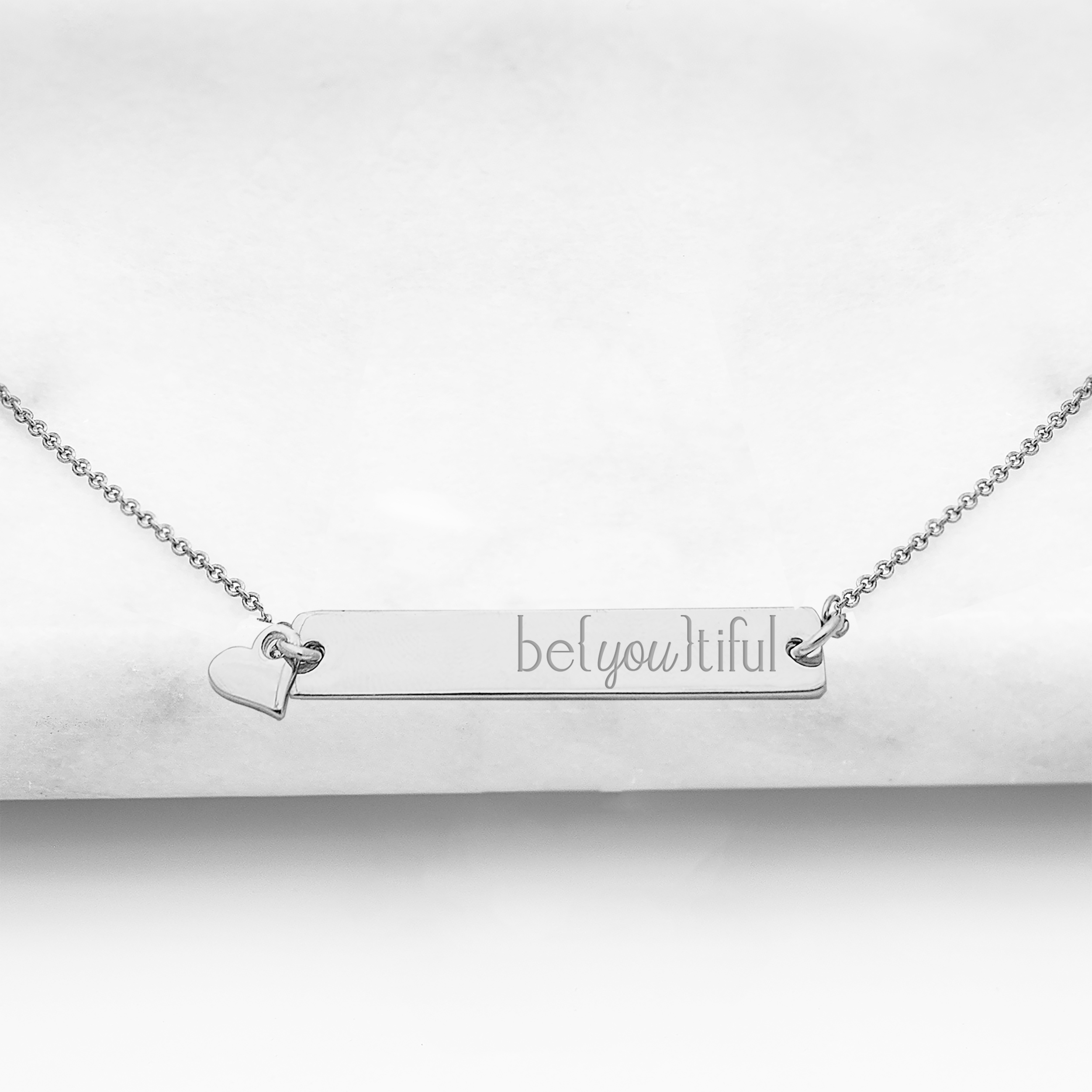 Cathys Concepts U-N9105S-BE Beyoutiful Silver Horizontal Bar Necklace