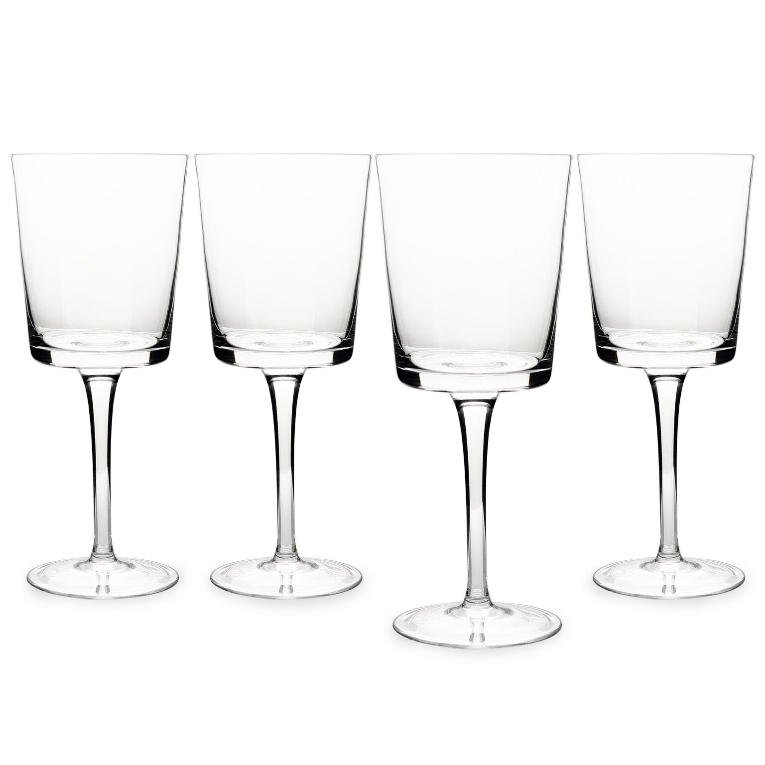 Cathys Concepts 3669-4 12 oz Contemporary Wine Glasses - Clear, Set of 4