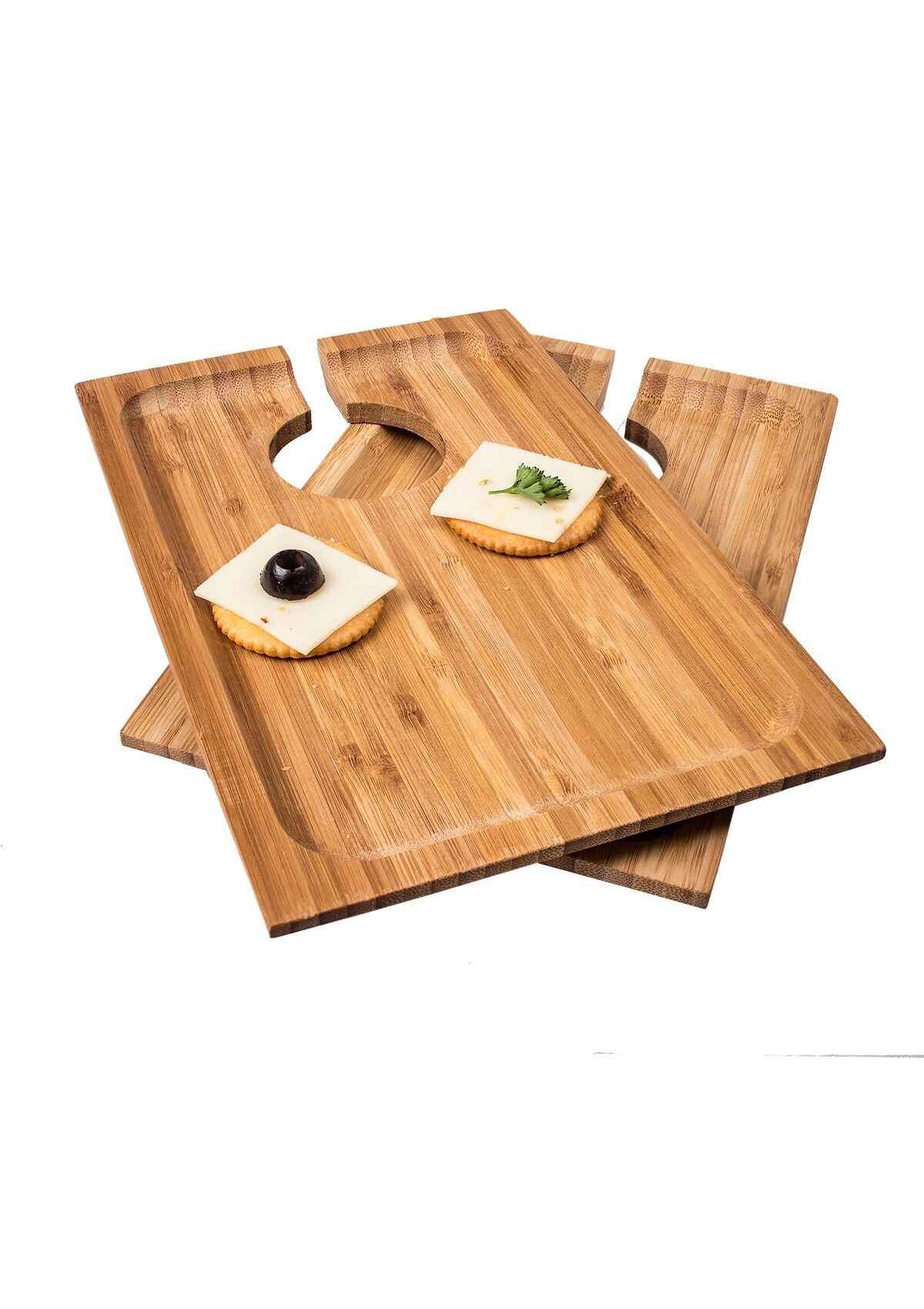Cathys Concepts 2295 Wine & Dine Appetizer Tray, Set of 2