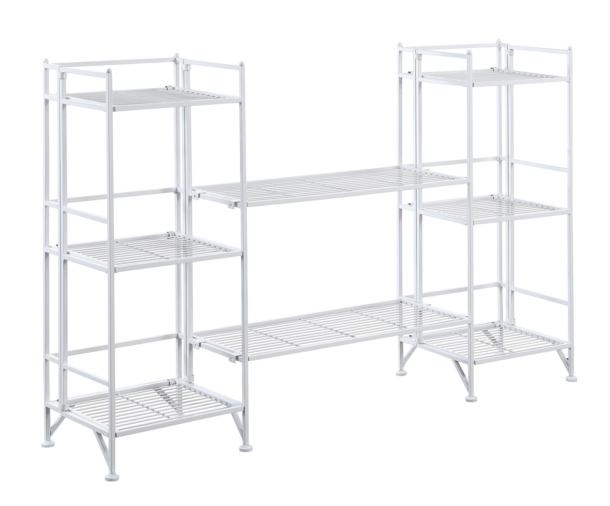 Convenience Concepts 8025W Xtra Storage Metal Folding Shelf, 4 Piece