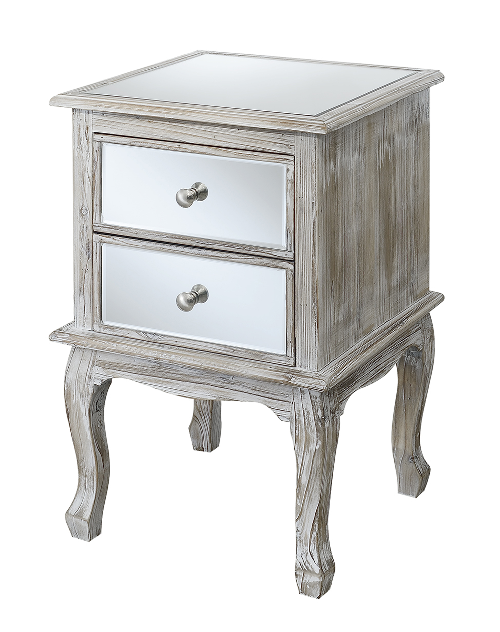 Convenience Concepts 413553WW 25 lbs Gold Coast Queen Size Anne Mirrored End Table