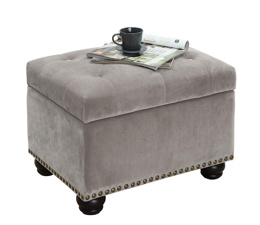 Convenience Concepts 163010FVT Designs 4 Comfort 5th Avenue Storage Ottoman - Velvet Tan