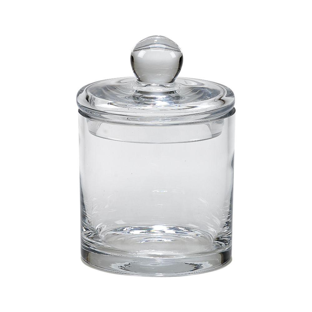 060511 7.75 in. Simon Optic Crystal Biscuit Barrel
