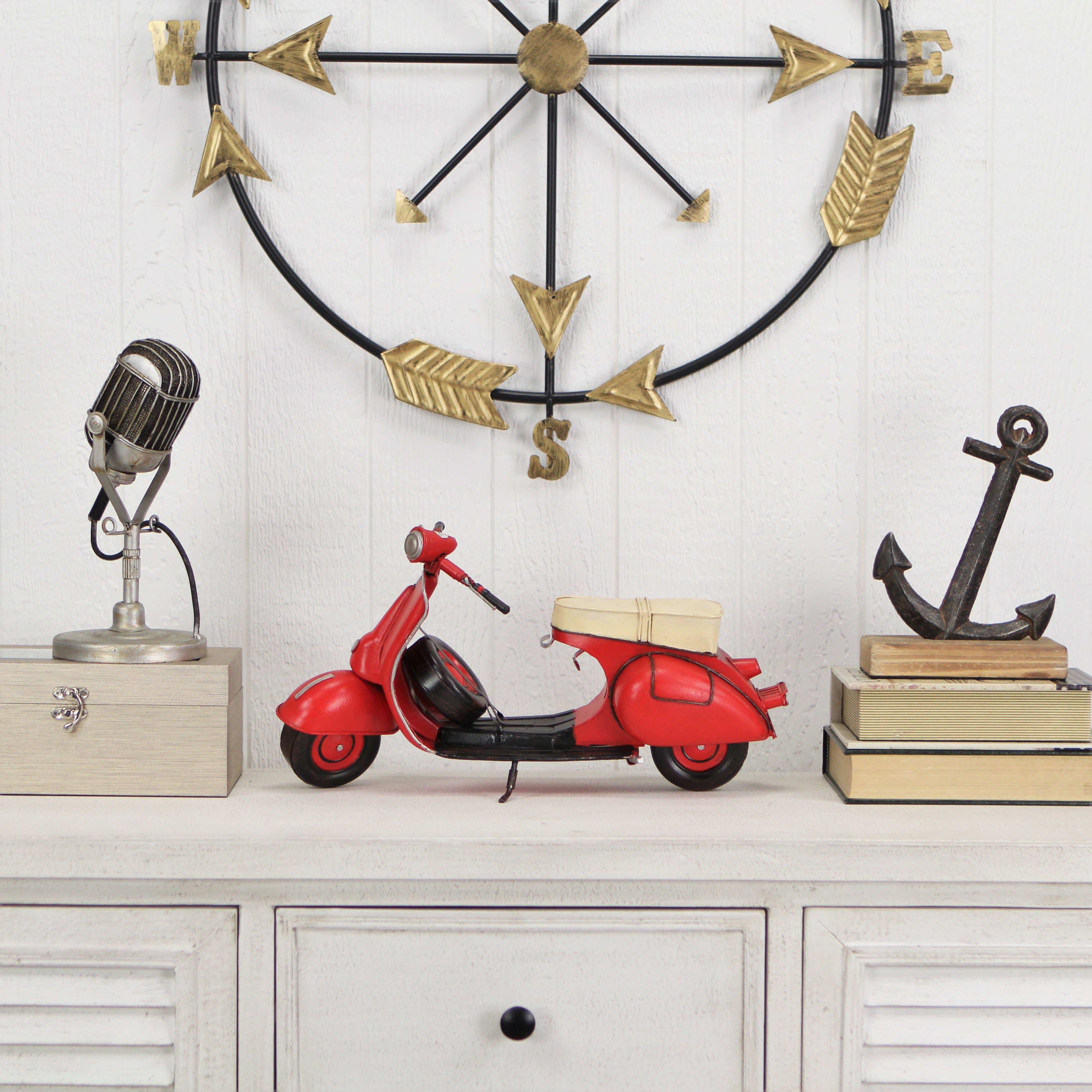 CheungsRattan JA-0313R Decorative Scooter Motor Cycle - Red