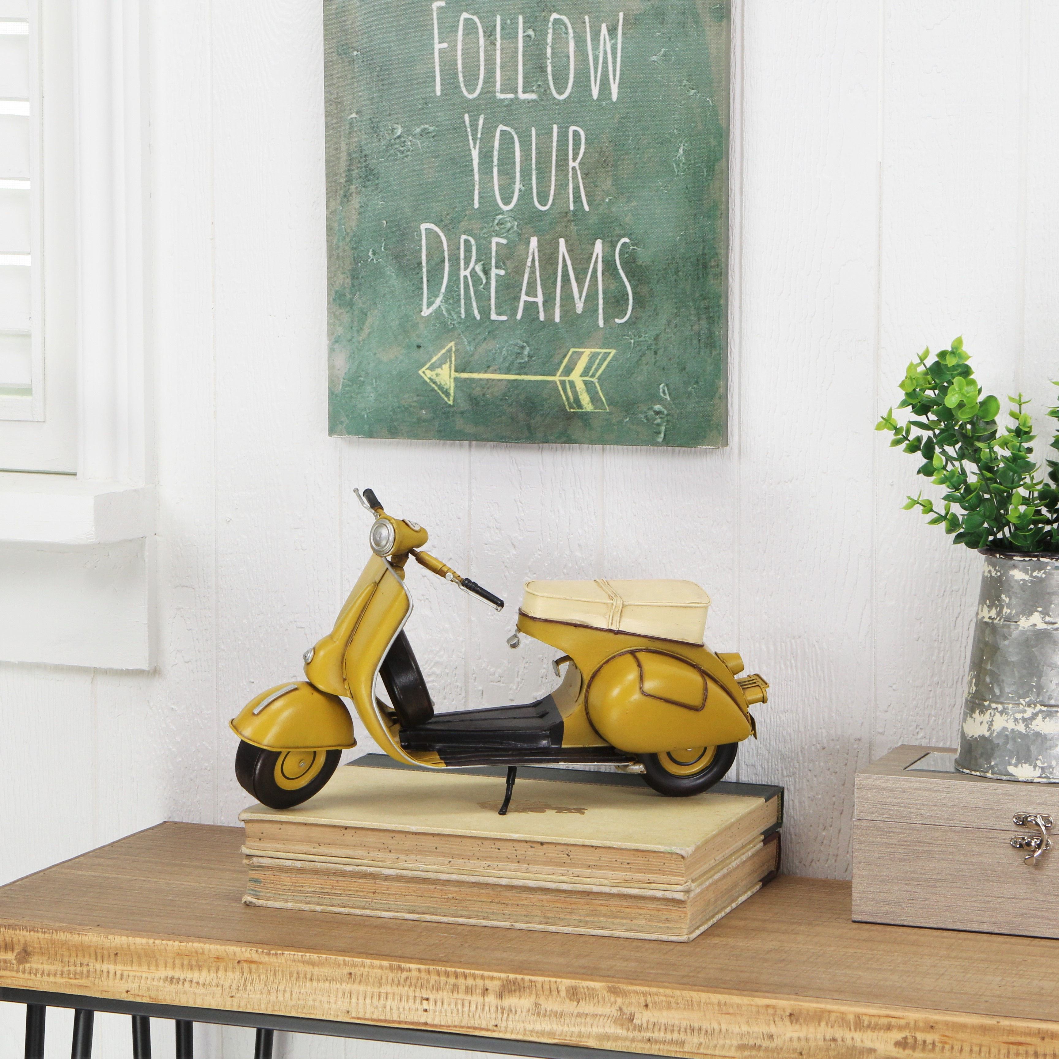 CheungsRattan JA-0313Y Decorative Scooter Motor Cycle - Yellow