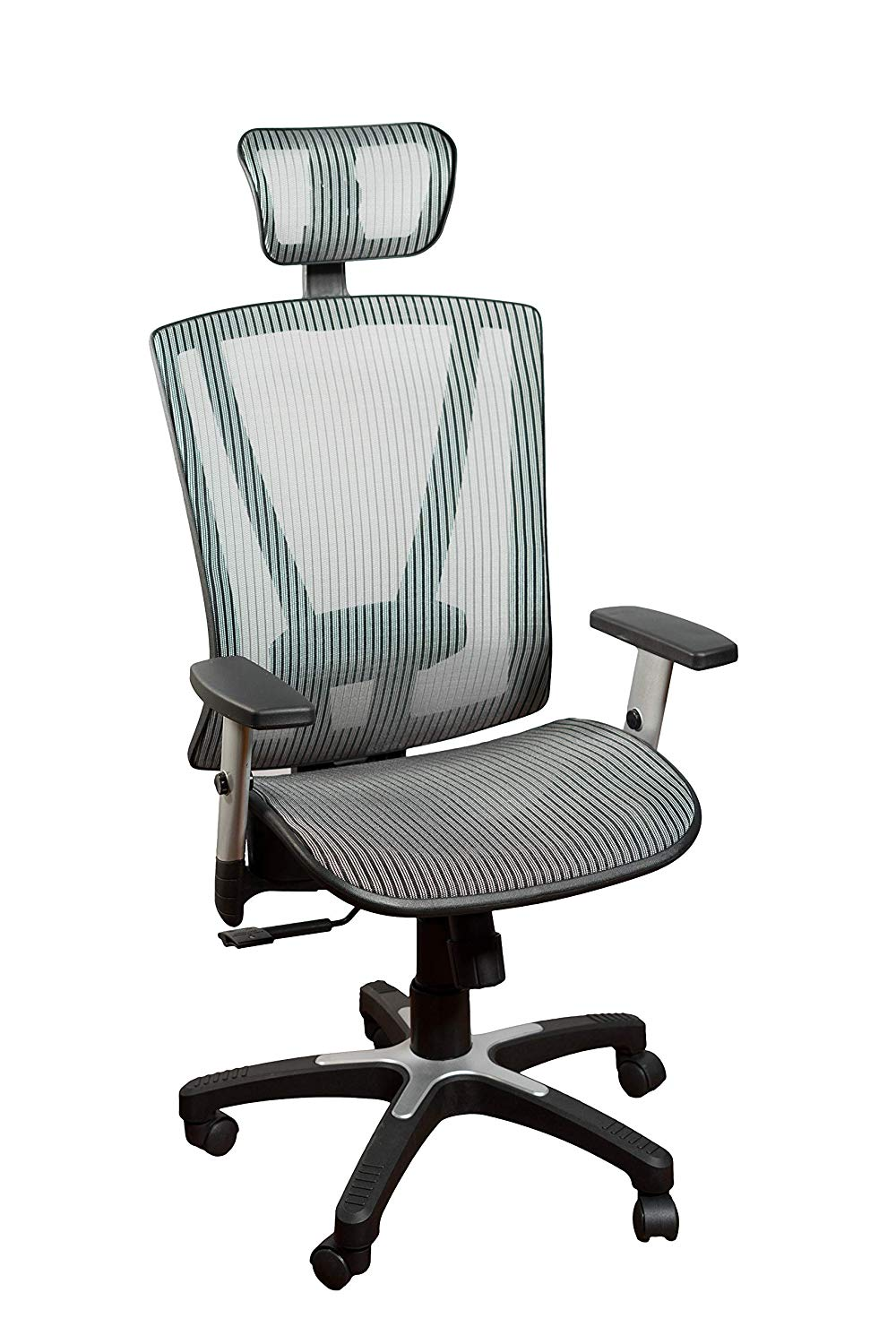 Ergomax Office MSH112GR Medium Fully Meshed Ergo Office Chair with Headrest - Brown