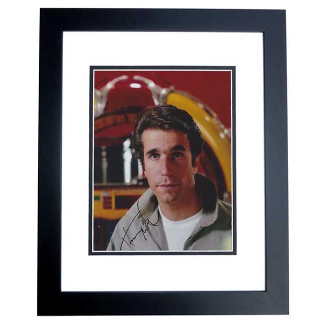 Henry Winkler Autographed Happy Days 8X10 The Fonz Photo Black Custom Frame