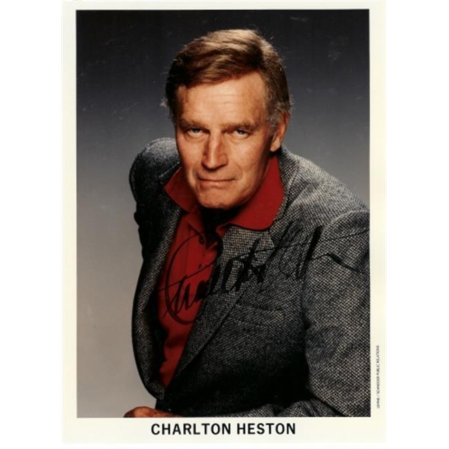 Charlton Heston Autographed 8X10 Photo