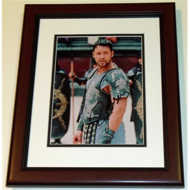 Russell Crowe Autographed - Gladiator - 8X10 Photo Mahogany Custom Frame