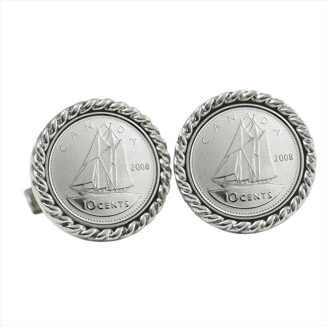 American Coin Treasures 12427 Canada Ship Coin Cuff Links