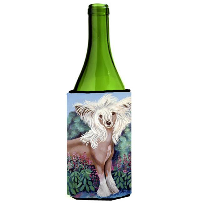 Carolines Treasures 7052LITERK Chinese Crested Wine bottle sleeve Hugger