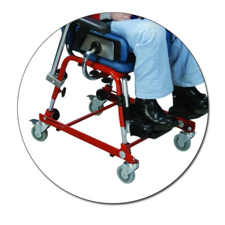 Fabrication Enterprises 31-3840 Skillbuilders School Chair with Mobility Base - Large