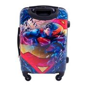 DC Comics EMSML704-980 21 in. Superman Spinner Rolling Luggage Suitcase with Upright ABS Plastic Hard Cases FUL1279