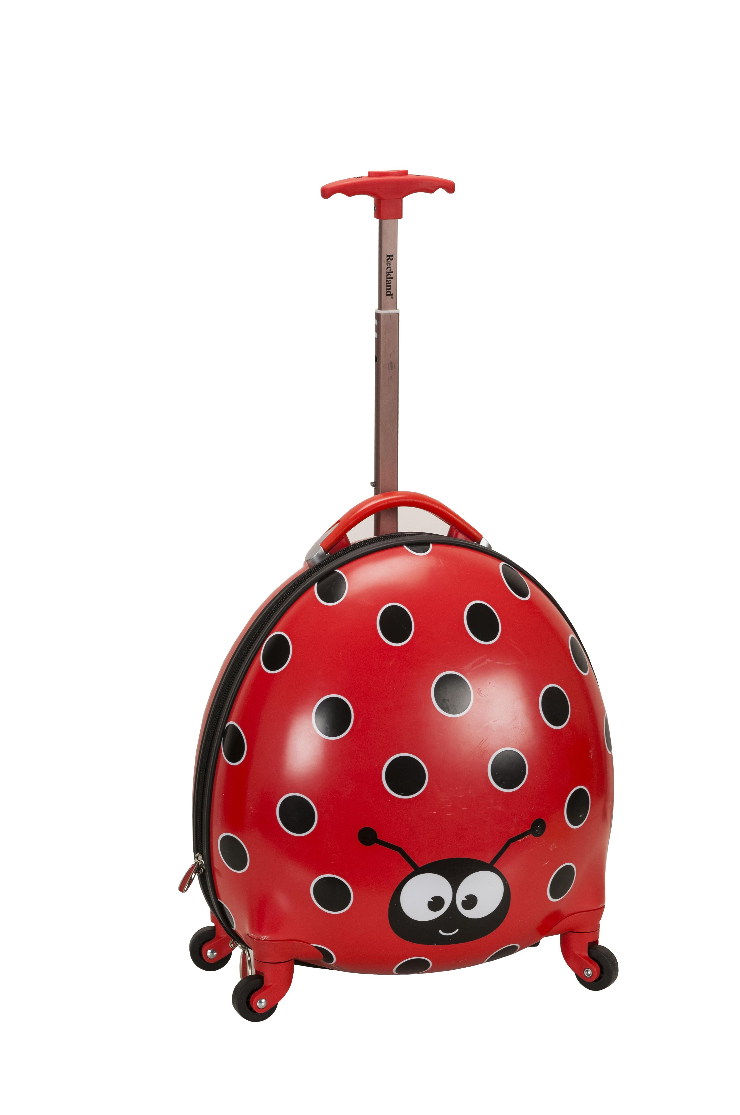 Ladybug Printed Polycarbonate Carry On Luggage