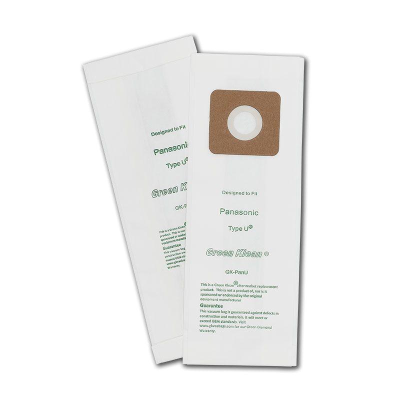 Green Klean GK-PanU Panasonic U Type Replacement Vacuum Bags - 10 per Case - Case of 10 GRNK1073
