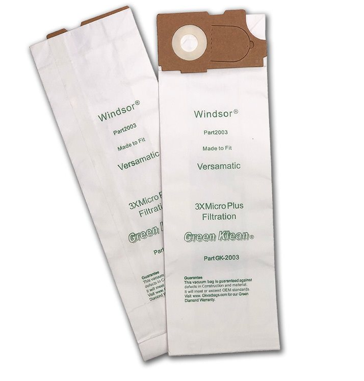 Green Klean GK-2003 Triple S SSS Prosense II Vacuum Same as Windsor Versamatic Triple Layer Replacement Vacuum Bags - 10 per Case - Case of 10 GRNK1077