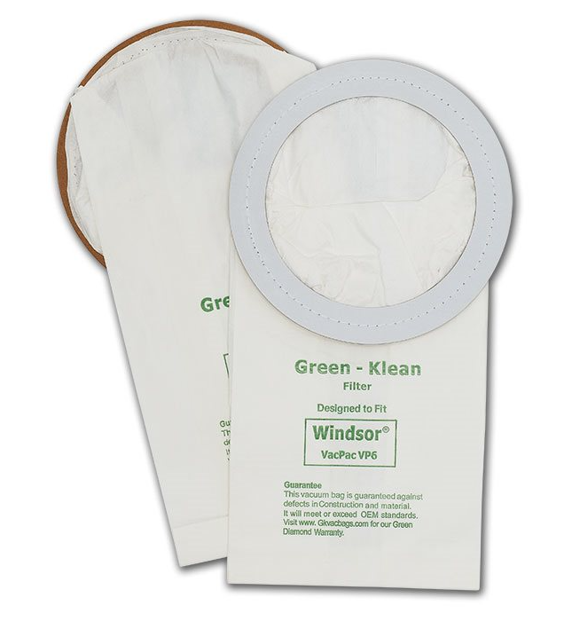 Green Klean GK-VP6 Windsor 6 qt Backpack Replacement Vacuum Bags - 10 per Case - Case of 10 GRNK1125