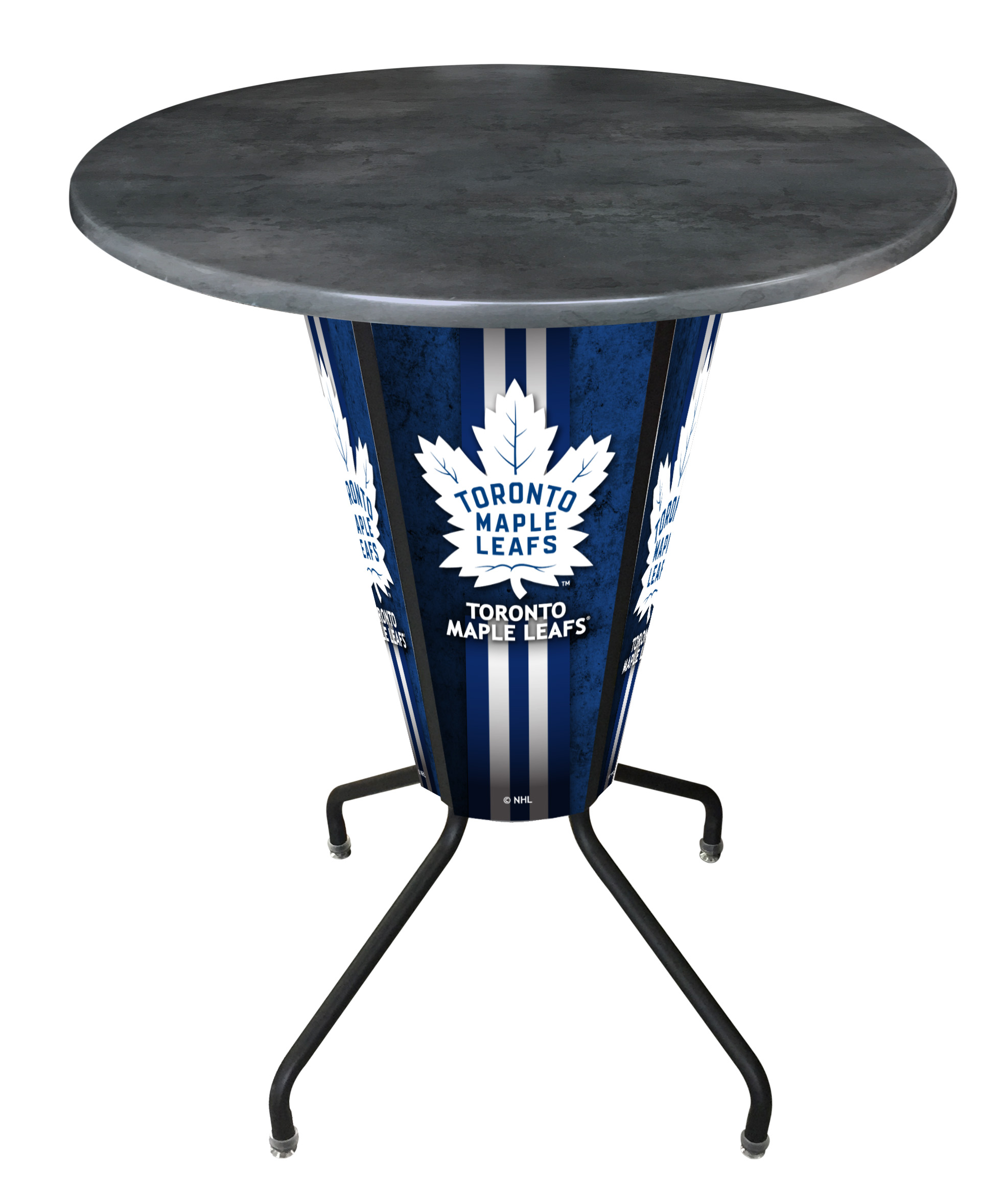 Holland Bar Stool L218B42TorMplOD36RBlk Lighted Toronto Maple Leafs Pub Table