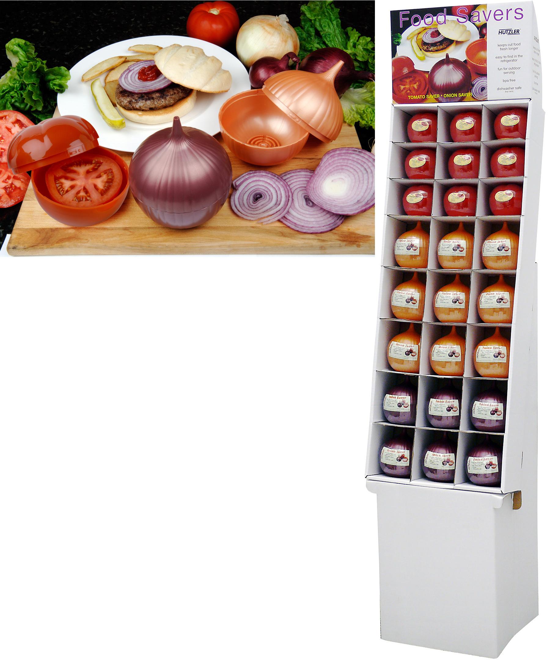 Image of Tomato & Onion Saver Floor Display (24 pack) 9 ea tomato savers 15 ea onion savers