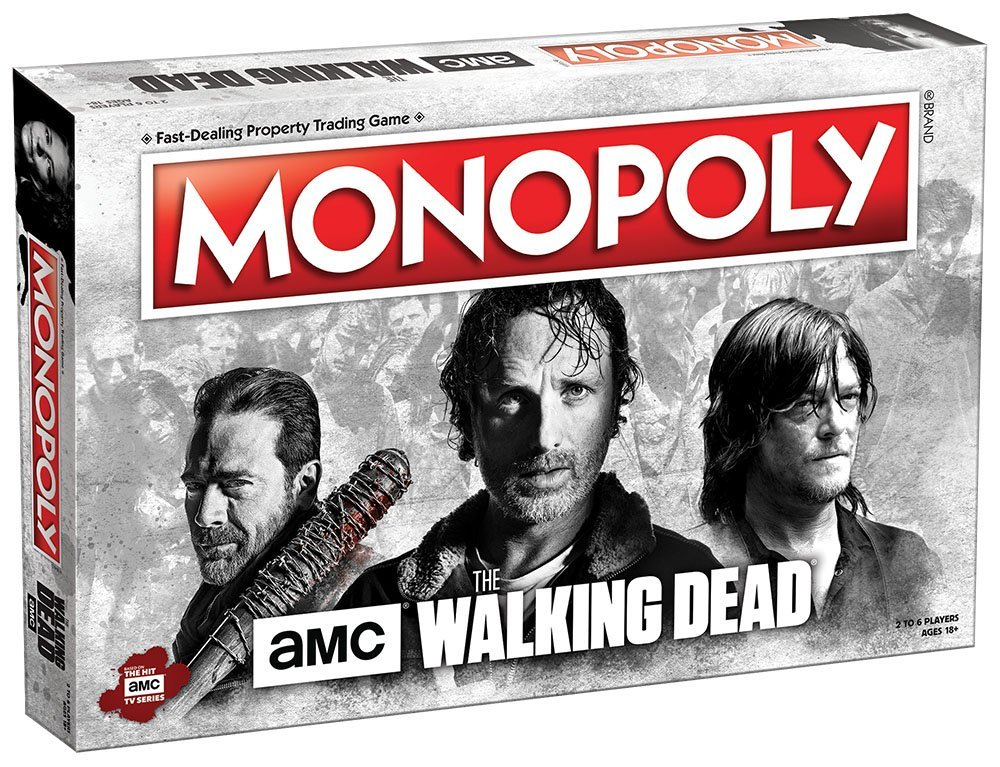Usaopoly MN116-469 Amc The Walking Dead Monopoly Board Game