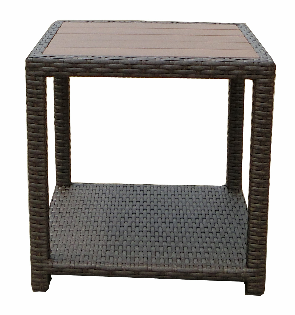 JJ Designs SB-3775-14 South Beach Wicker Patio End Table