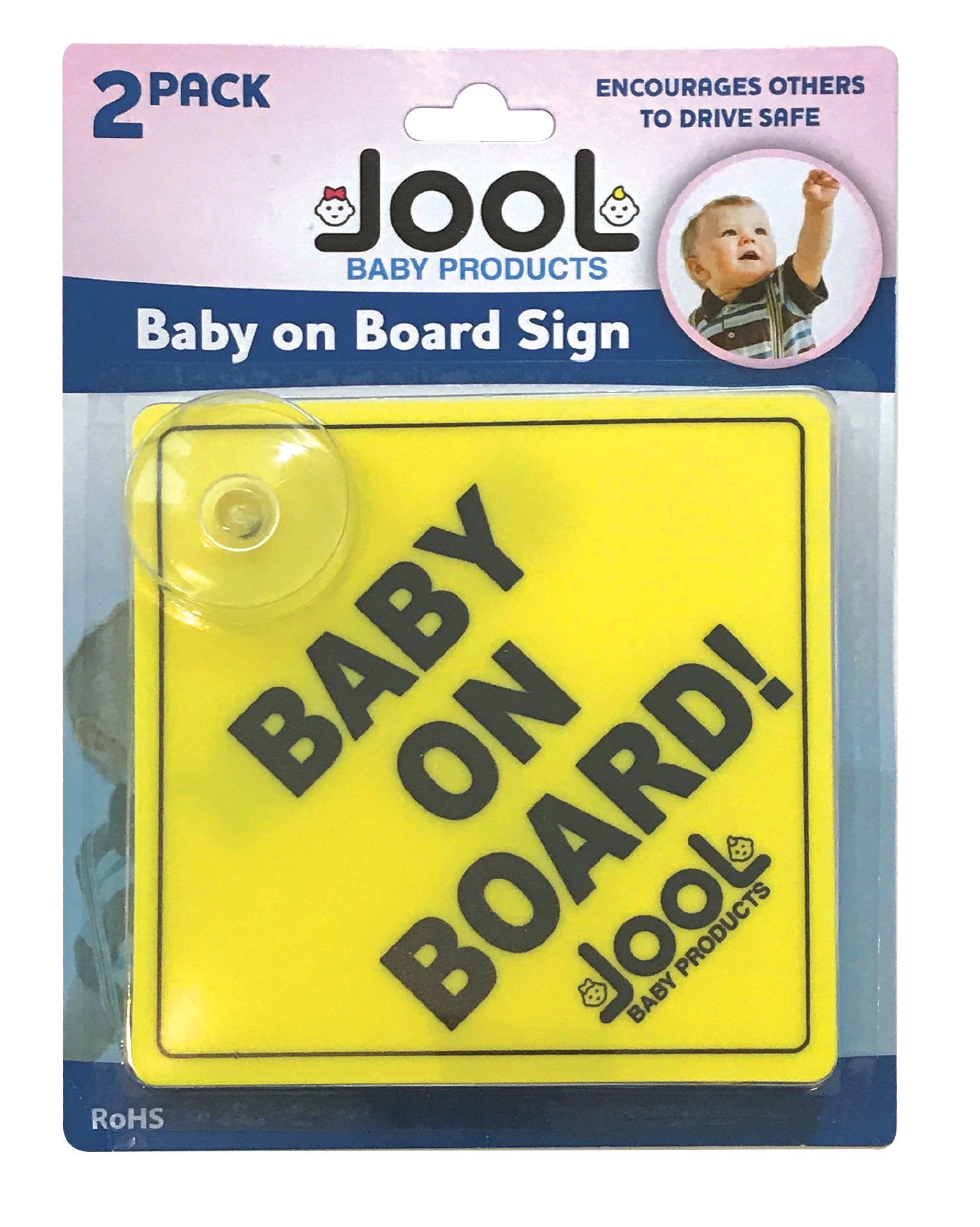 Jool Baby Products BOB-102 Safety 1st Baby on Board - Pack of 2 JLPR006