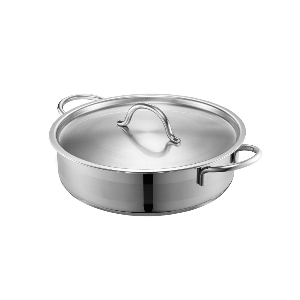 PN Poong Nyun LUCE24CMLOW 24 cm Luce Low Stainless Steel Pot