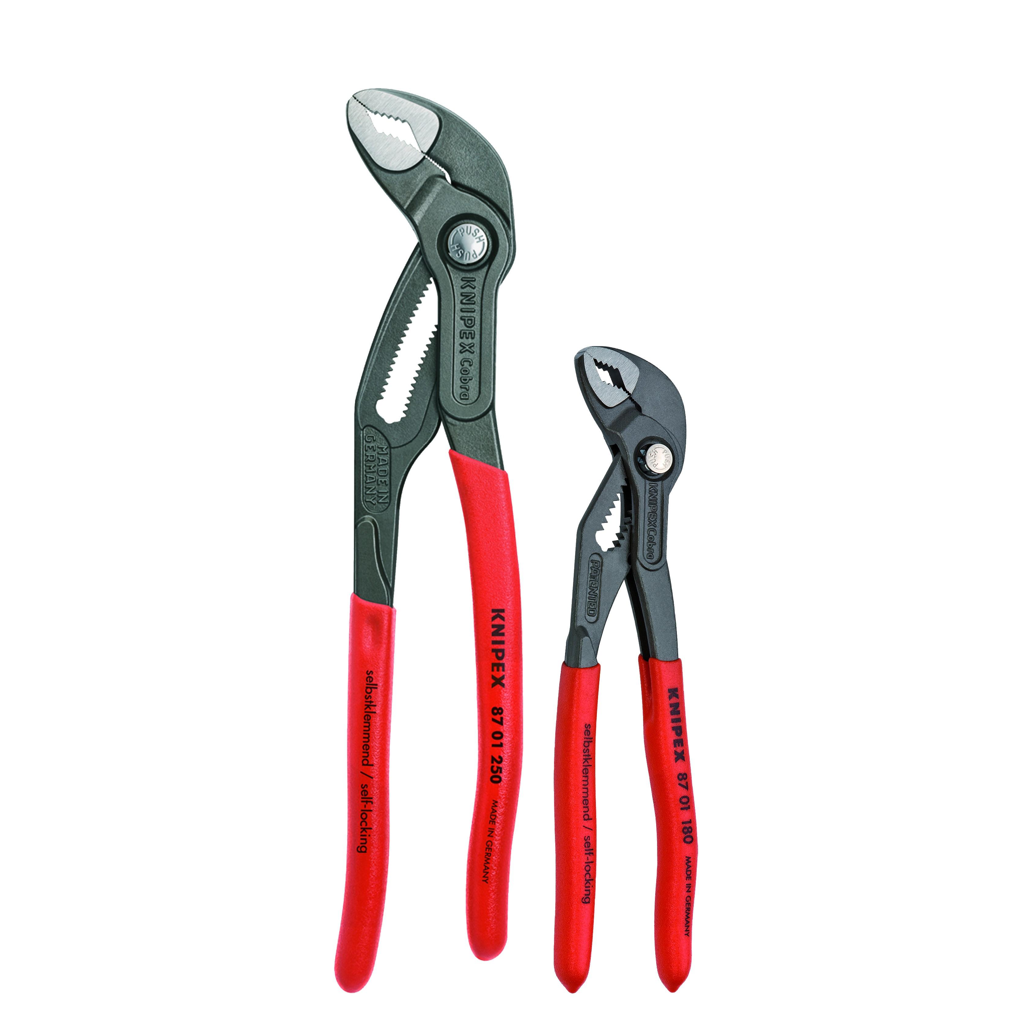 Knipex KNT-9K008025US Comfort Grip Cobra Set - Red & Blue