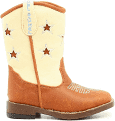 DBL Barrel 4411402-08 Toddler Zip Lone Star Cutout Stars Boot, Brown - Size 8