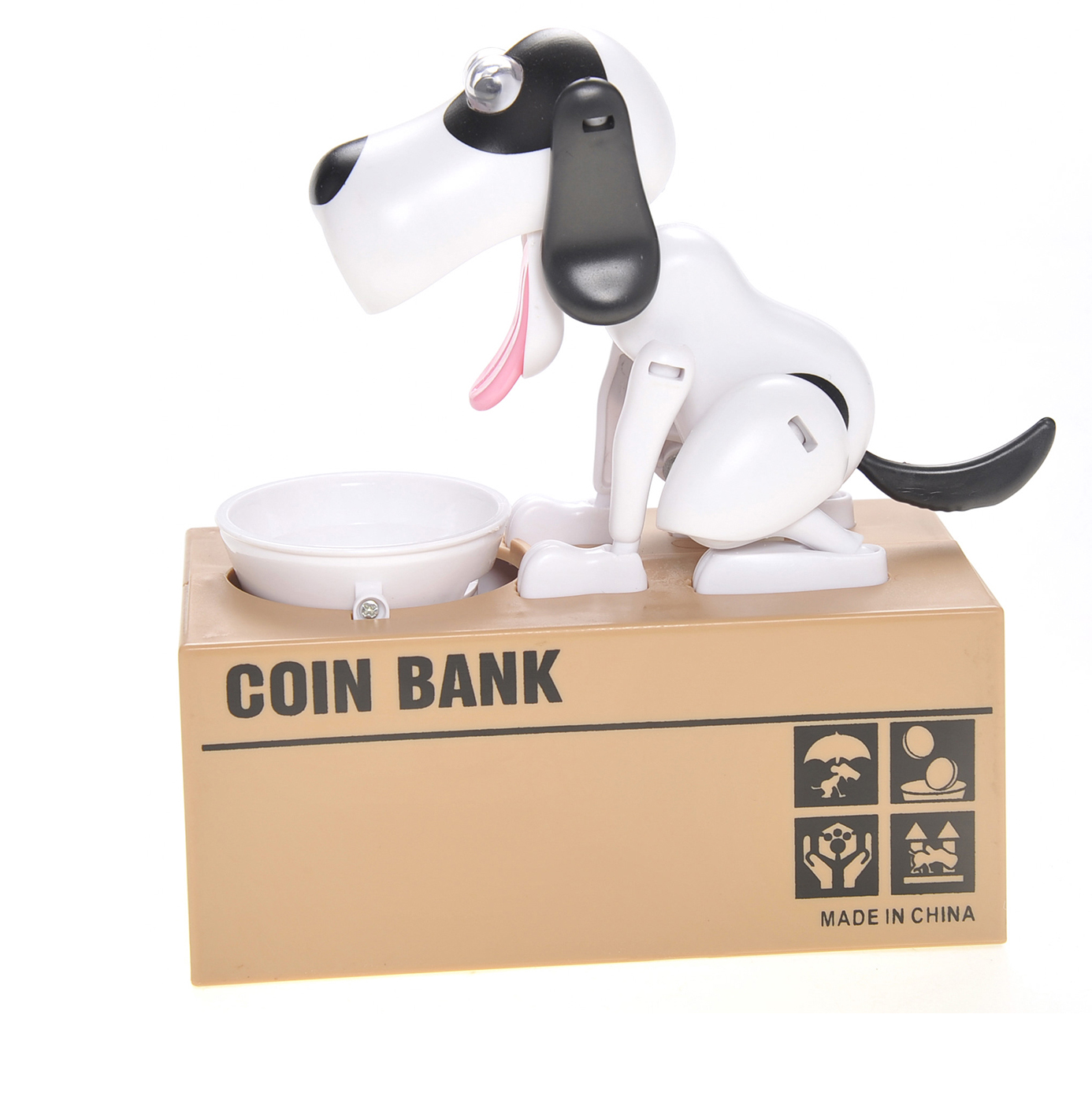 M&M Gifts MPT801 WBLK Toy My Dog Automatic Bank - White Black
