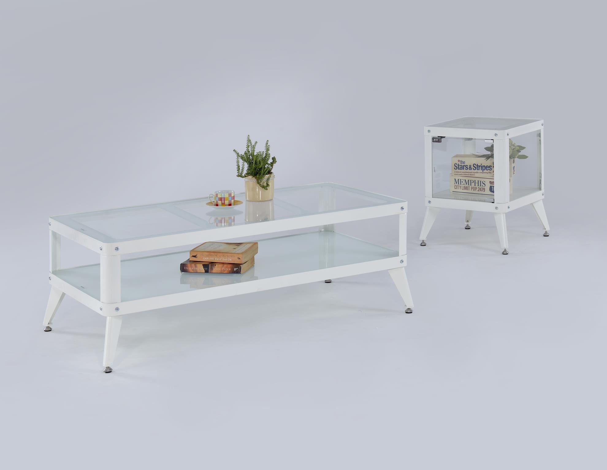 Myco Furniture 8720-ET Maria White End Table