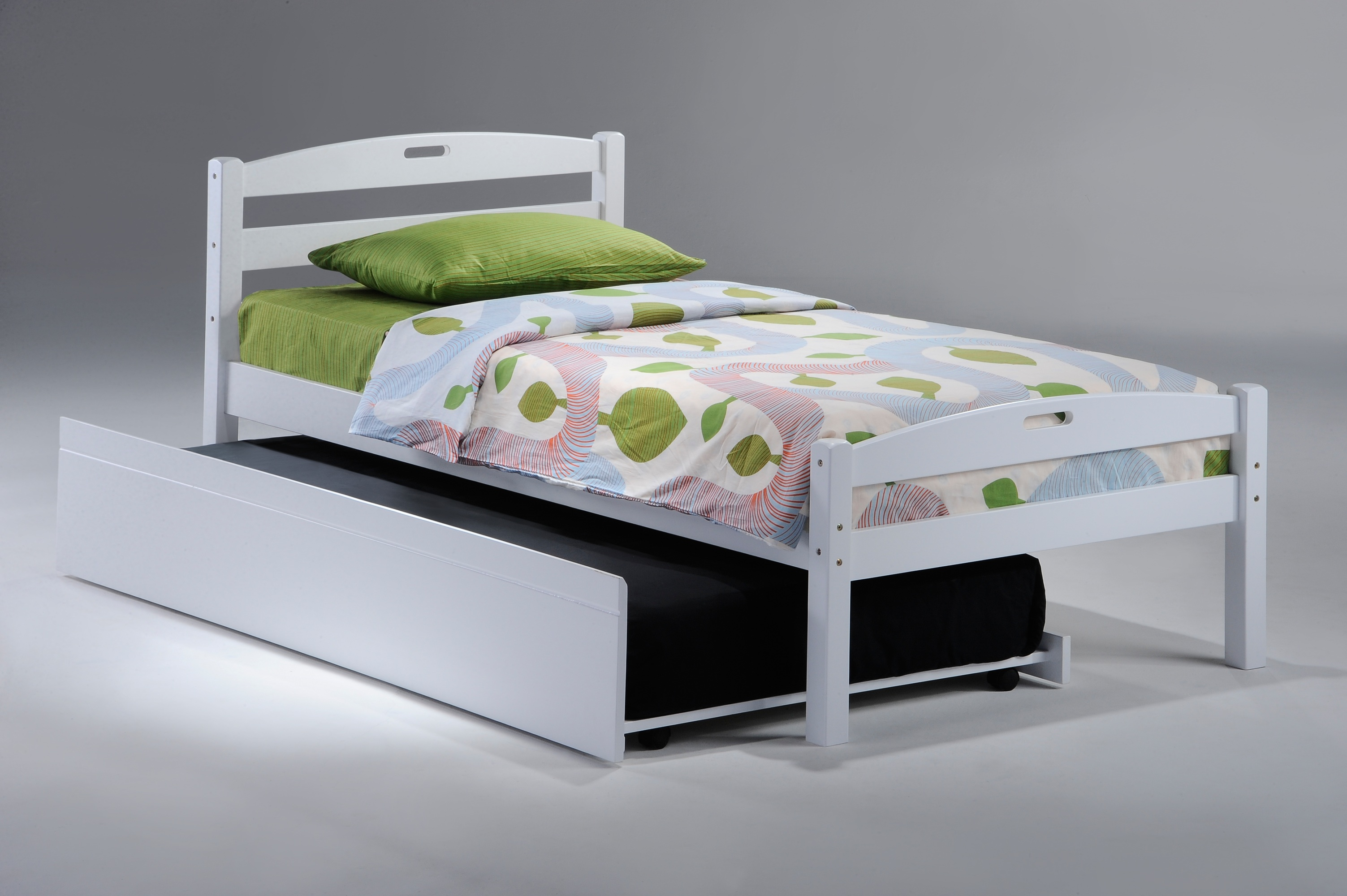 Night & Day Furniture YT2-TWN Trundle Slat Bed with Storage - Twin