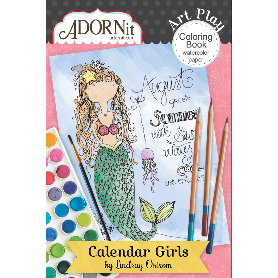 Adorn-It ARTPMCB-81032 Calendar Girl - Art Play Min Coloring Book