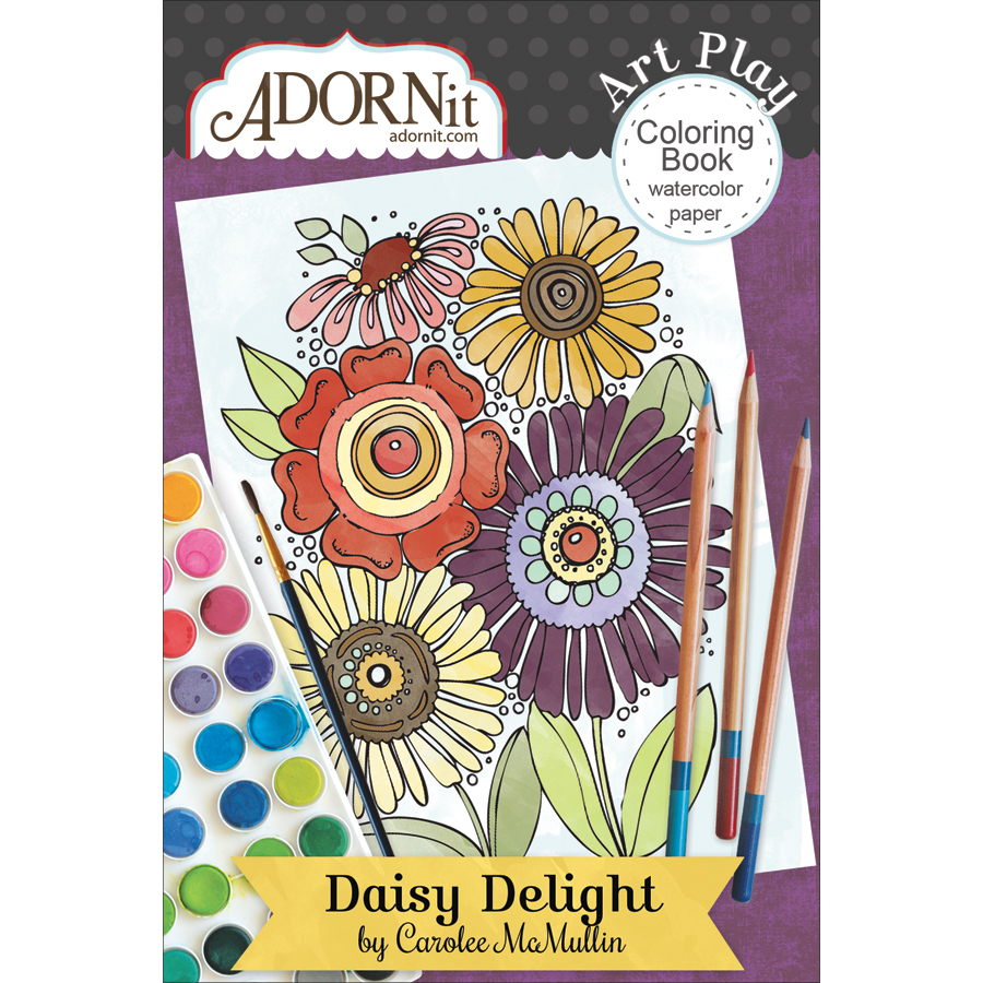 Adorn-It ARTPMCB-81034 Daisy Delight - Art Play Min Coloring Book